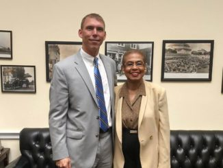 Rep. Eleanor Holmes Norton and Brian V. Lee