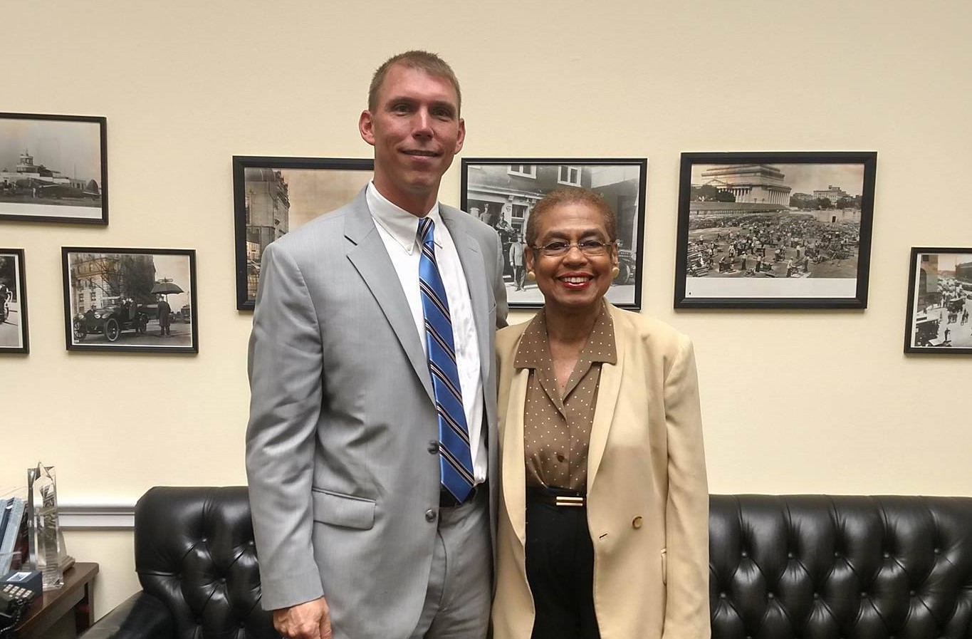 Eleanor Holmes Norton and Brian V. Lee